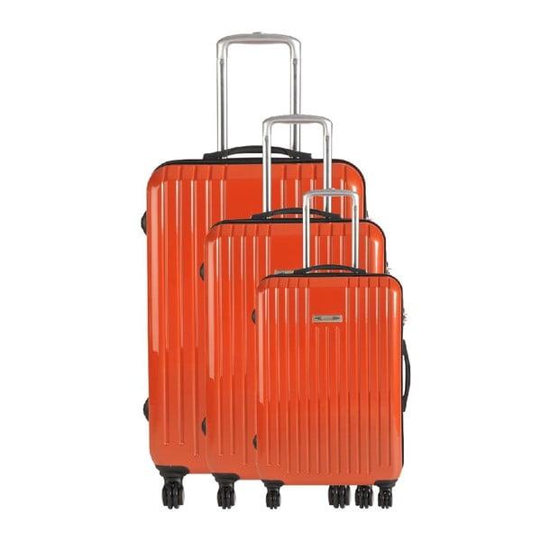 Set 3 cestovných kufrov Majestik Sunset