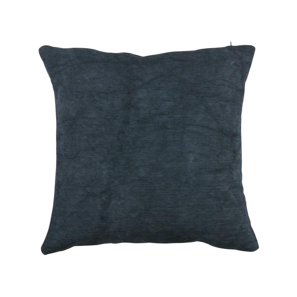 Tmavomodrý vankúš WOOOD Belle, 45 × 45 cm