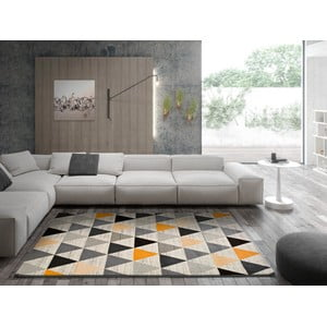 Sivý koberec Universal Leo Triangles, 160 × 230 cm