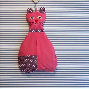 Závesná taška Mačička, ružová