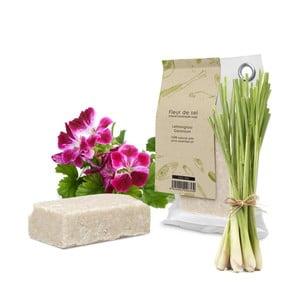 Prírodné mydlo s citrónovou trávou a pelargóniou HF Living