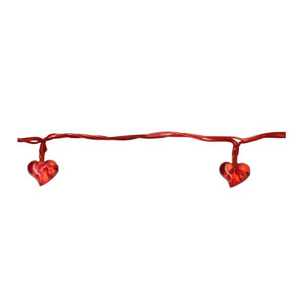 Svetelná LED reťaz Best Season Red Hearts, 135 cm