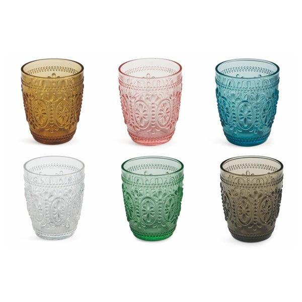 Sada 6 farebných pohárov Villa d'Este Imperial Bicchieri, 240 ml