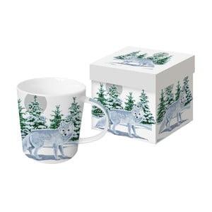 Porcelánový hrnček s vianočným motívom v darčekovom balení PPD Snow Fo×, 350 ml