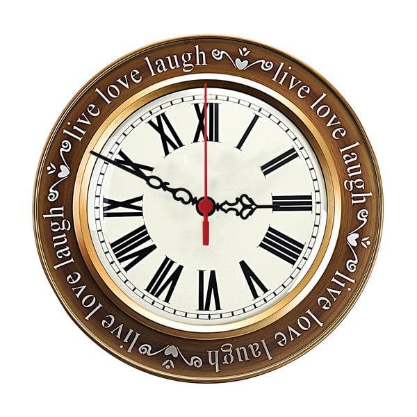 Nástenné hodiny Live Love Laugh, 30 cm