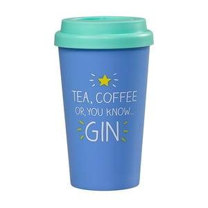 Modrý cestovný hrnček Happy Jackson Gin, 400 ml