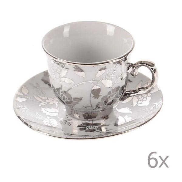 Set hrnčekov Silver Coffee, 6 ks