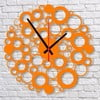 Nástenné hodiny Orange Bubble