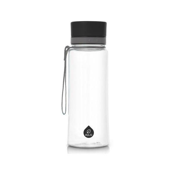 Plastová fľaša Equa Plain Black, 0,6 l