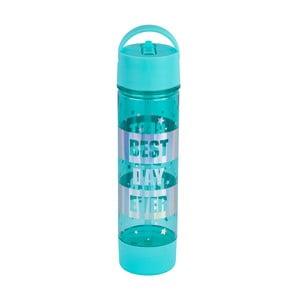 Modrá fľaša na vodu Tri-Coastal Design Best Day Ever, 750 ml