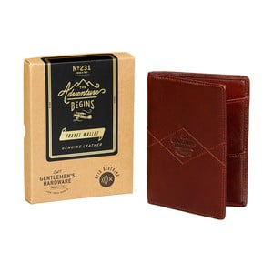 Kožená cestovná peňaženka Gentlemen 's Hardware Travel