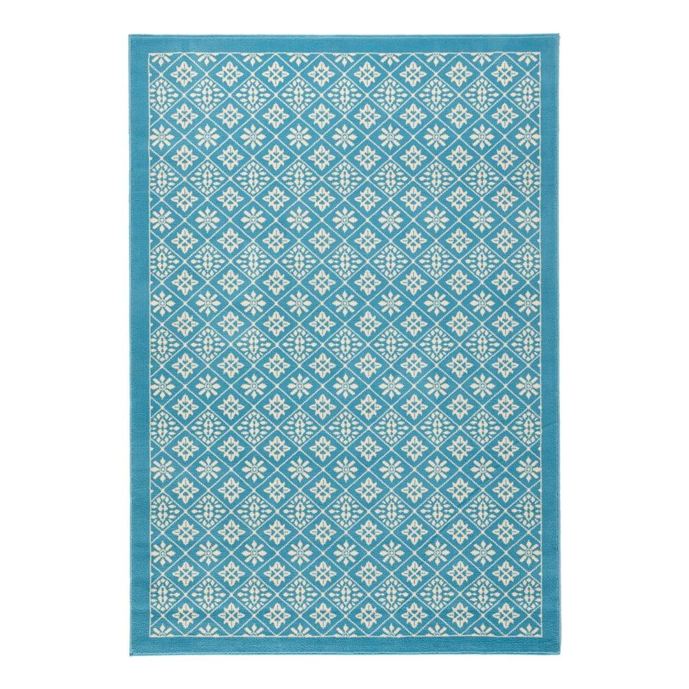 Svetlomodrý koberec Hanse Home Gloria Tile, 80 x 150 cm