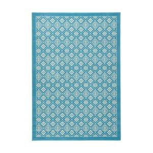 Svetlomodrý koberec Hanse Home Gloria Tile, 80 x 300 cm