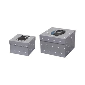 Sada 2 sivých úložných škatúľ Bloomingville Storage