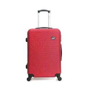 Červený cestovný kufor na kolieskách BlueStar Porto, 39 l