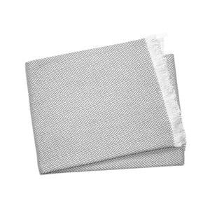 Svetlosivý pléd s podielom bavlny Euromant Sky, 140×250 cm