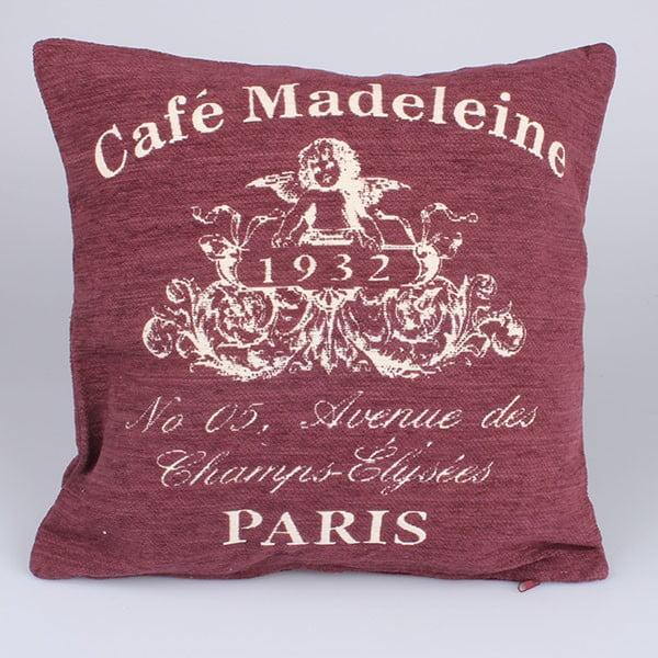 Obliečka na vankúš Café Paris, červený