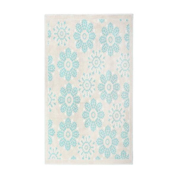 Tyrkysový bavlnený koberec Floorist Kamili, 80x300cm
