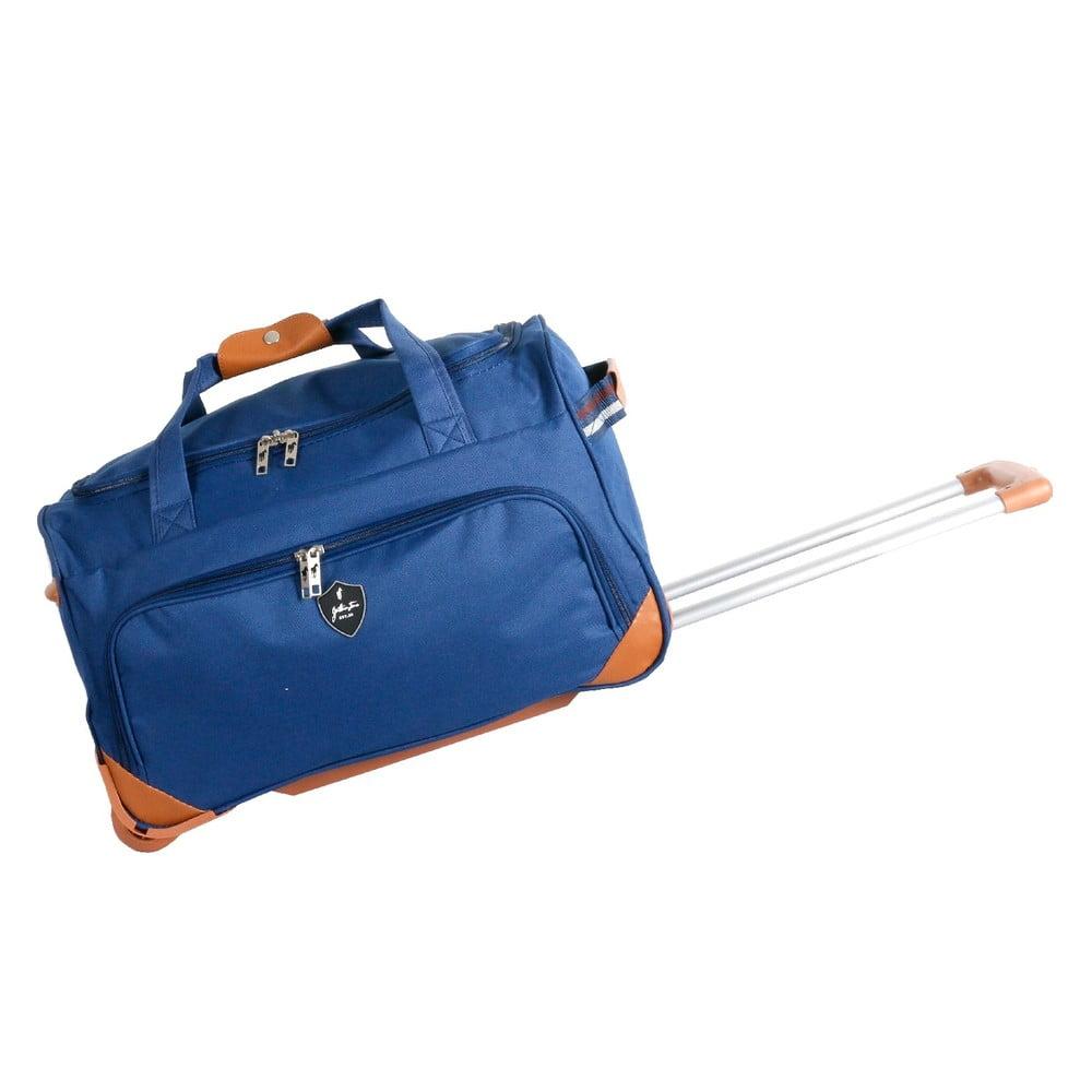 Modrá cestovná taška na kolieskách GENTLEMAN FARMER Sporty, 88 l
