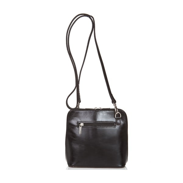 Čierna kožená kabelka Giorgio Costa Jacintha