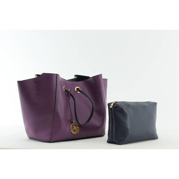 Kabelka Beverly Hills Polo Club 01 - Purple/Dark Blue
