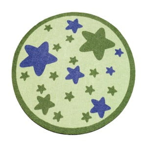 Koberec Deko - zelené hviezdy, 100 cm