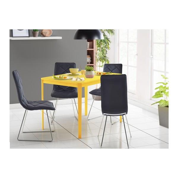 Žltý jedálenský stôl Støraa Trento, 110×75 cm