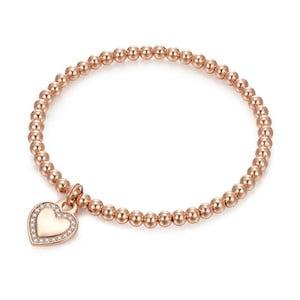 Dámsky náramok vo farbe ružového zlata Runaway Heart & Pearls