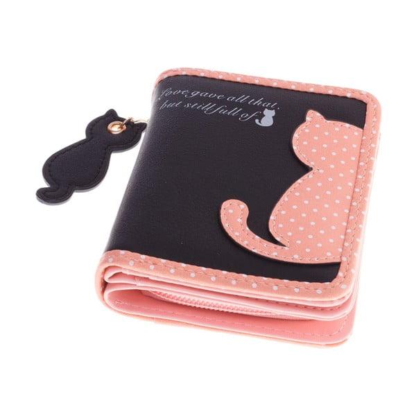 Malá peňaženka Cat, čierna