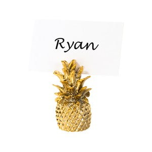 Sada 6 držadiel na menovky v tvare ananásu Talking Tables Pineapple