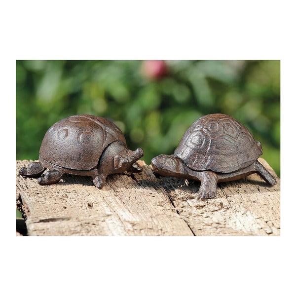 Sada 2 dekoratívnych korytnačiek na ukrytie kľúčov