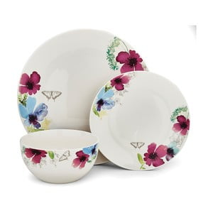 3-dielny set riad z porcelánu Cooksmart Chatsworth Floral
