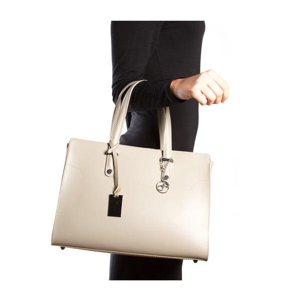 Kožená kabelka Canda, béžová