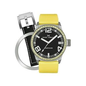 Dámske hodinky Marc Coblen s remienkom a ozdobou ciferníku naviac P1
