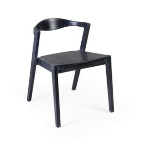 Čierna jedálenská stolička z dreva Sungkai Moycor Arco