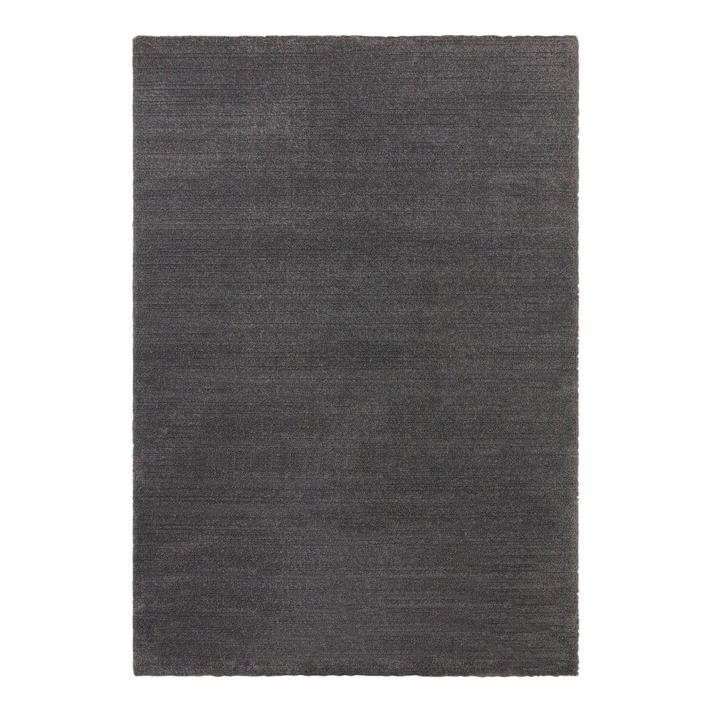 Antracitový koberec Elle Decor Glow Loos, 80 x 150 cm