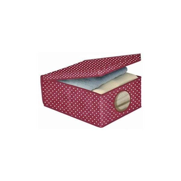 Úložný box Ordinett Bordeaux, 48x36cm