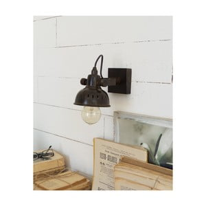 Čierne nástenné svietidlo Orchidea Milano Applique Old Style