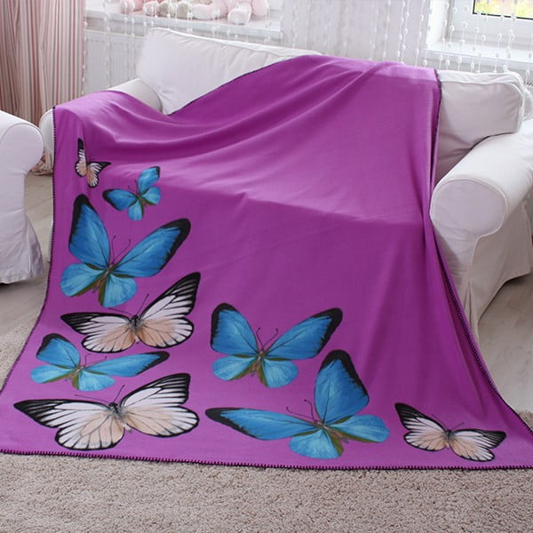 Deka Butterfly Purple, 130x160 cm