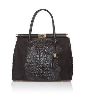 Čierna kožená kabelka Markese Mara