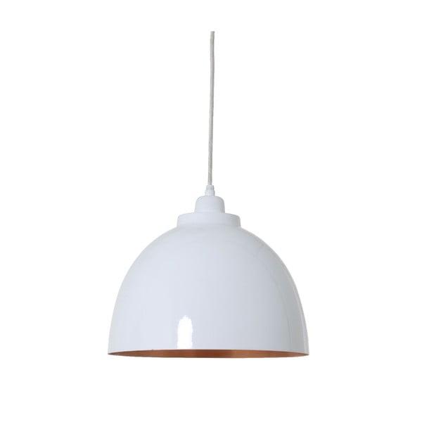 Závesné svetlo Kylie White Copper, 30 cm