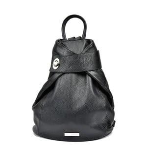 Čierny dámský kožený batoh Anna Luchini Lismo
