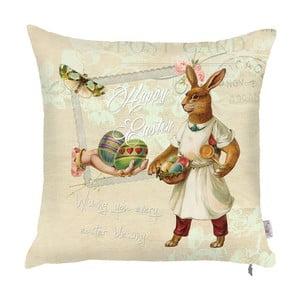 Obliečka na vankúš Apolena Happy Easter Rabbit, 43×43cm