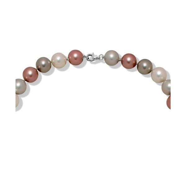 Ružovosivý perlový náhrdelník Nova Pearls Copenhagen Mara de Vida Only Me, 60 cm
