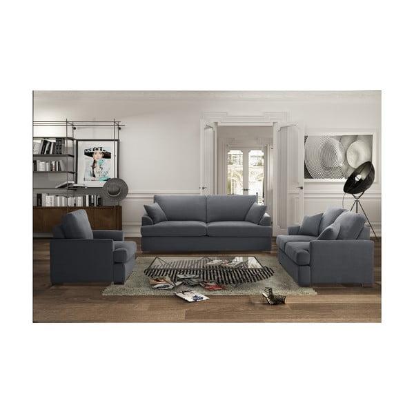 Trojdielna sedacia súprava Jalouse Maison Irina, sivá