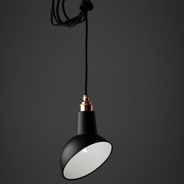 Závesné svetlo Miniature Angled Cloche Black