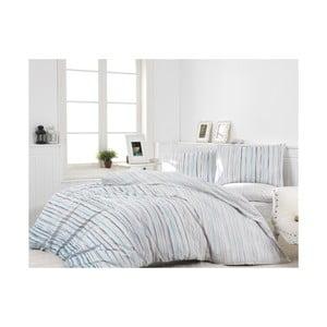 Svetlosivé bavlnené obliečky s plachtou na dvojlôžko Winter, 200×220cm