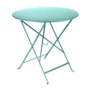 Modrý záhradný stolík Fermob Bistro, ⌀ 77 cm