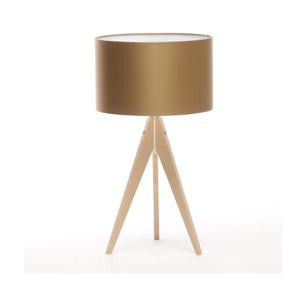 Stolná lampa Artist Golden/Natural Birch, 65 cm