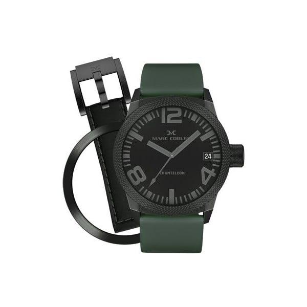 Unisex hodinky Marc Coblen s remienkom a krúžkom na ciferník naviac P41